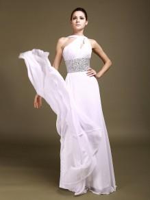 Sheath / Column Chiffon Bridal Gowns Wedding Dresses 00101002