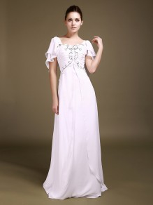 Sheath / Column Chiffon Wedding Dresses 00101004