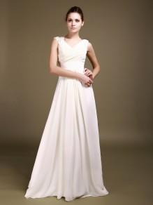Sheath/Column Chiffon Wedding Dresses 00101009