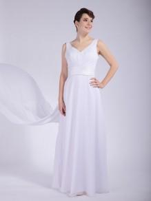 A-line Chiffon V-neck Wedding Dresses 00101042