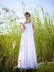 Sheath/Column Empire Chiffon Maternity Wedding Dresses 00101083