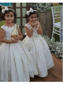 Ball Gown Tea-length Flower Girl Dresses