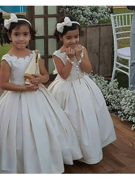 Ball Gown Tea-length Flower Girl Dresses