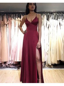 Simple Stunning V-Neck Long Prom Dresses Formal Evening Gowns 995011157
