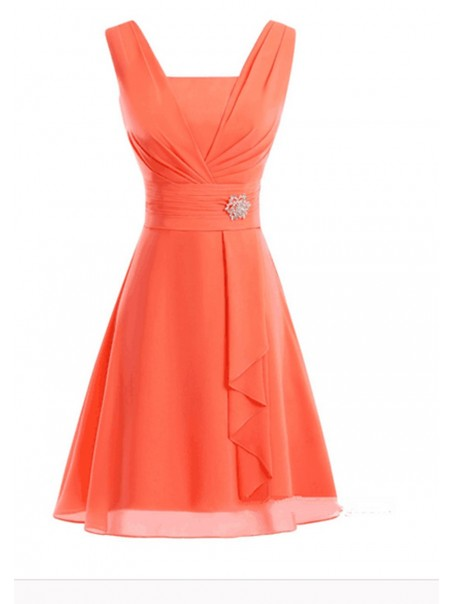 A-Line Short Chiffon Bridesmaid Prom Formal Evening Dresses 99501124