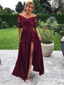 Lace Off-the-Shoulder Long Prom Dresses Formal Evening Dresses 99501134