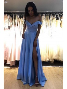 A-Line Off-the-Shoulder Long Prom Dresses Formal Evening Gowns 995011639