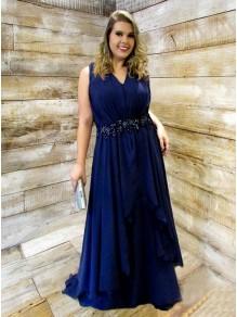 Long Beaded V-Neck Plus Size Prom Dresses Formal Evening Dresses 99501167