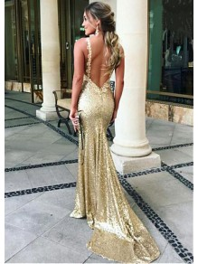 Sexy Mermaid Sequins Long Prom Dresses Formal Evening Dresses 99501219