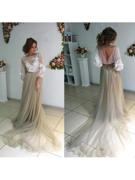 Lace and Tulle Long Prom Dresses Formal Evening Dresses 99501268