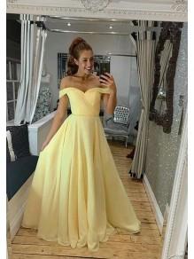 A-Line Off-the-Shoulder Long Prom Dress Formal Evening Dresses 99501382