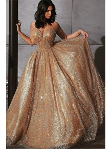 A-Line Sparkling Long Prom Dress Formal Evening Dresses 99501454