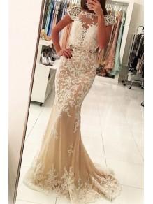 Mermaid Beaded Lace Long Prom Dress Formal Evening Dresses 99501484