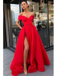 A-Line Off-the-Shoulder Long Prom Dress Formal Evening Dresses 99501485