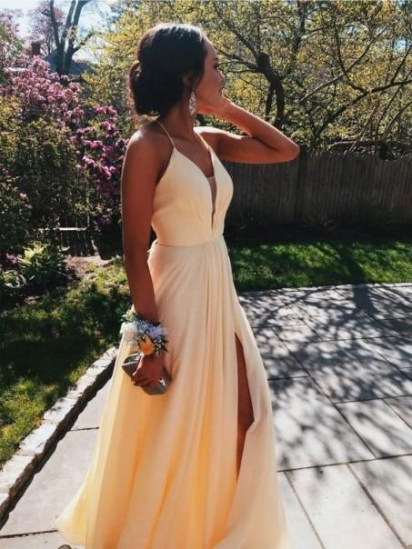 A-Line V-Neck Long Prom Dress Formal Evening Dresses 99501489