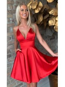 Short/Mini V-Neck Prom Dress Homecoming Dresses 99501490