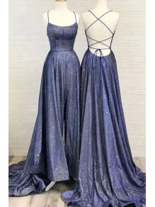 A-Line Sparkling Long Prom Dress Formal Evening Dresses 99501493