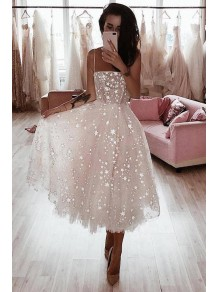 A-Line Spaghetti Straps Sparkling Prom Dress Formal Evening Dresses 99501496