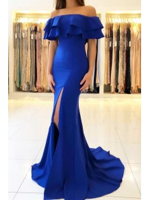 Mermaid Off-the-Shoulder Long Prom Dress Formal Evening Dresses 99501592