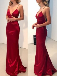 Mermaid V-Neck Long Prom Dress Formal Evening Dresses 99501652