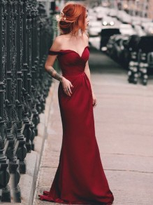 Elegant Off-the-Shoulder Long Prom Dress Formal Evening Dresses 99501687