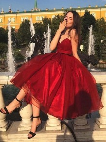 A-Line Sweetheart Red Prom Dress Formal Evening Dresses 99501705
