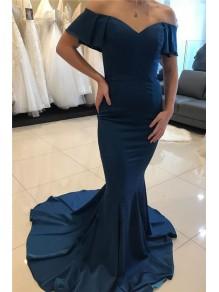 Mermaid Off-the-Shoulder Long Prom Dress Formal Evening Dresses 99501770