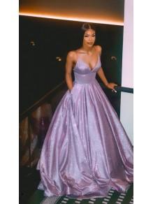 A-Line V-Neck Sparkle Long Prom Dress Formal Evening Dresses 99501799