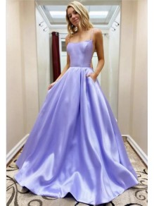 A-Line Spaghetti Straps Long Prom Dresses Formal Evening Gowns 99501818