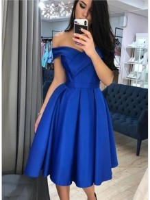 A-Line Off-the-Shoulder Short Prom Dresses Formal Evening Gowns 99501825