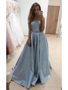 A-Line Strapless Long Prom Dresses Formal Evening Gowns 99501837