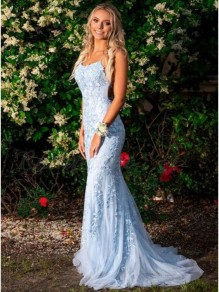 Elegant Mermaid Lace Long Prom Dresses Formal Evening Gowns 99501896