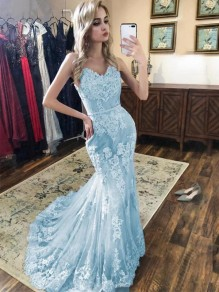 Mermaid Sweetheart Lace Long Prom Dresses Formal Evening Gowns 99501950