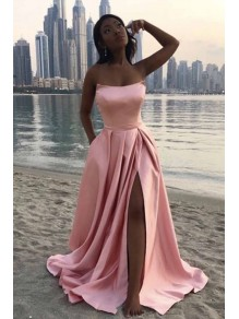 A-Line Long Satin Prom Dresses Formal Evening Gowns 99501961