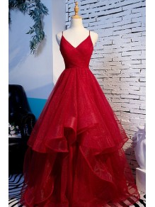 A-Line Spaghetti Straps Long Prom Dresses Formal Evening Gowns 99501976