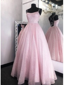 A-Line Long Pink Prom Dresses Formal Evening Gowns 99501997