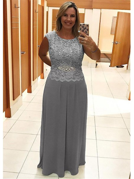 Elegant Sleeveless Beaded Lace Mother of The Bride Dresses 99503049