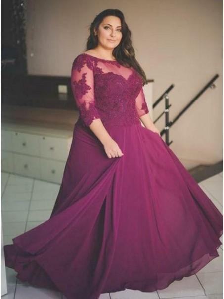 A-Line Lace Appliques Mother of The Bride Dresses 99503054
