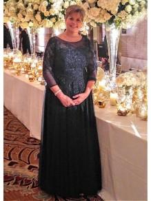 A-Line Lace Appliques Long Mother of The Bride Dresses 99503081