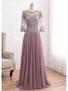 A-Line Lace Chiffon Mother of The Bride Dresses 99503095