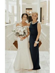 Elegant Beaded Sleeves Long Chiffon Mother of the Bride Dresses 99503104