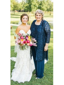 Affordable Plus Size Lace Mother of the Bride Pant Suits Dresses 99503109