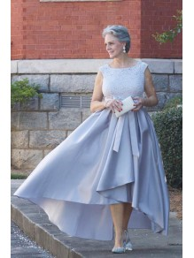 Stunning Asymmetrical Lace Satin Mother of the Bride Dresses 99503110