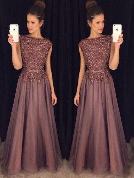 Elegant A-Line Beaded Lace Appliques Mother of the Bride Dresses 99503112