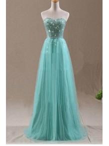 A-Line Sweetheart Beaded Long Wedding Guest Dresses Bridesmaid Dresses 99601234