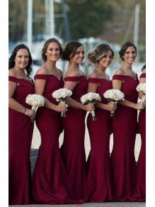 Mermaid Off-the-Shoulder Long Bridesmaid Dresses 99601284