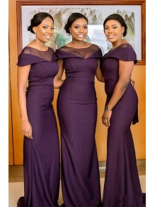 Elegant Mermaid Long Bridesmaid Dresses 99601295
