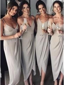 Simple Spaghetti Straps V-Neck Bridesmaid Dresses 99601298