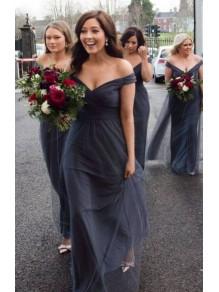 A-Line Off-the-Shoulder Long Bridesmaid Dresses 99601300