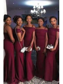 Mermaid Spaghetti Straps Long Bridesmaid Dresses 99601306